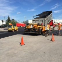 Pavage commercial dans la Ville de Québec